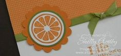 I like this simple orange design for the invitation.