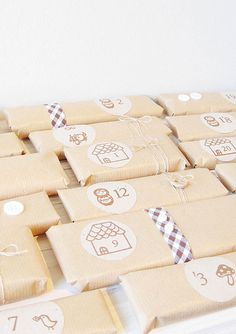 Chocolate bar advent calendar wrapped | Flickr - Photo Sharing!