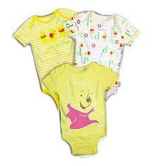 Disney Baby- -Winnie The Pooh Newborn 3-Pack Bodysuits