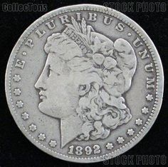 1892s Morgan dollar semikey date silver coin by DrewsCollectibles, $45.00