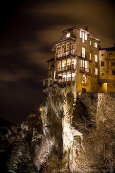 Hanging Houses, Cuenca, Castille, Spain.
