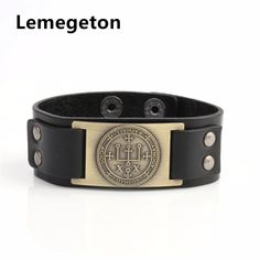Find More Charm Bracelets Information about Lemegeton Talisman Wicca Jewelry Antique Gothic Sigil of Archangel Raphael Enochian Amulet Angel leather Charm Men Bracelet,High Quality men bracelet,China leather charm Suppliers, Cheap charms men from Yiwu Bichuang Jewelry Factory on Aliexpress.com