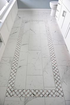 Sweet Retreat — Susan Yeley Homes Marble Bathroom Floor, Bathroom Flooring, Lake Bathroom, Mosaic Bathroom, Bathroom Wall, Master Bathroom, Bathroom Decor Pictures, Bathroom Ideas, Bathroom Renos