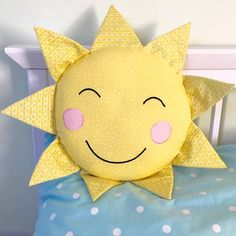 Quirky You are my sunshine cushionWe offer lots of other quirky cushions please see our storefront.Children and adults will love this cute and quirky sunshine shaped cushion. It will certainly bring a bit of cheer to any living room or bedroom. Why not treat someone and put a smile on their face! PLEASE NOTE THAT WE OFFER FREE POSTAGE ON ORDERS OVER £30 TO MAINLAND UK. To receive this item on the 'next day' please place your order by 2 pm on the day before, thank you100% cotton cover. ...