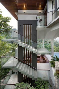 61 unique modern staircase design ideas for your dream house Interior Modern, Best Interior Design, Interior Architecture, Asian Interior, Home Interior, Home Stairs Design, Modern House Design, Asian House, Design Exterior