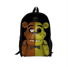 Five Nights At Freddys School Book Laptop Backpack 16 Inche Opening Youth Teen College Adult Boys
