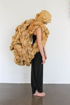 Brielle Burrus- Wearable Paper Sculpture, made from vintage dress patterns