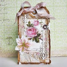 Shabby altered tag