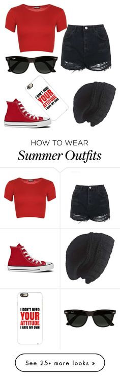 """""""Summer outfit, daughter of Ares."""" by gracenerada on Polyvore featuring Topshop, WearAll, Converse, Ray-Ban, Laundromat and Casetify"""