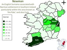 Newman   Irish Origenes: Use Family Tree DNA to Discover Your Genetic Origins   Clans of Ireland   Irish Surnames Map