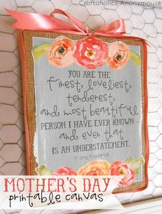 DIY Mother's Day gift idea with free printable