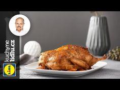 Pečená kachna s perníkovou nádivkou a pomerančovou omáčkou - Roman Paulus - RECEPTY KUCHYNĚ LIDLU - YouTube Lidl, Baked Potato, Roman, Turkey, Potatoes, Meat, Baking, Ethnic Recipes, Youtube