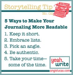 5 Writing Tips for More Readable Personal Stories