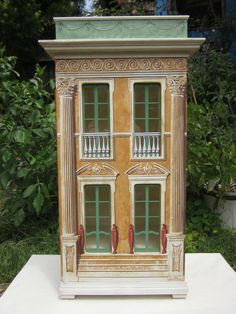 Eric Lansdown dollhouse, vintage dollhouse, beautiful painting work. Eric Lansdown does outstanding work.  .....Rick Maccione-Dollhouse Builder www.dollhousemansions.com