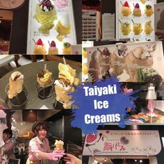 Taiyaki ice cream is a famous snack item at Tai-Parfait. There are so many flavors to try. Taiyaki ...