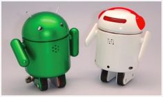 Bluetooth BERO robot inspired by Android mascot. http://cnet.co/O0Go7F