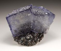 Fluorite with Sphalerite --- Elmwood Mine, Smith Co. Minerals And Gemstones, Crystals Minerals, Rocks And Minerals, Stones And Crystals, Tennessee Usa, Gem Diamonds, Mineral Stone, Rocks And Gems, Natural Crystals