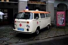 Vintage Austrian ambulance car, as seen at the Gaisberg Rally 2013, Salzburg, Austria