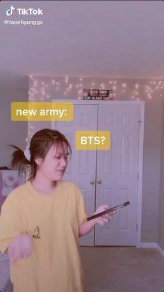 Literally me😂 - Trends of Tiktok Bts Jimin, Bts Taehyung, Bts Bangtan Boy, Bts Funny Videos, Bts Memes Hilarious, Viral Videos, V Video, Vkook Memes, Min Yoonji