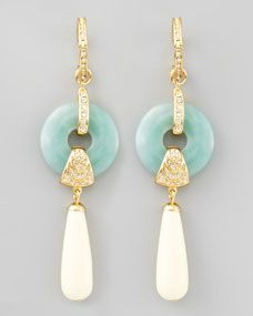 Amazonite Cream Teardrop Earrings