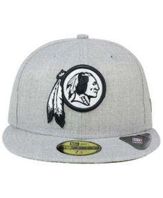 New Era Washington Redskins Heather Black White 59FIFTY Fitted Cap - Gray 7 1/4