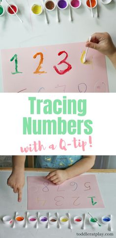 Make learning to write fun with this q-tip tracing activity for preschoolers! #preschoolactivity #writingactivities