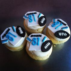 Detroit Lions cupcakes!!! Customize your order today!  Http://www.carytown-cupcakes.com