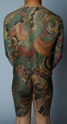Japanese Phoenix back piece by David Sena