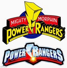 """6.5-10"""" POWER RANGERS LOGO WALL STICKER GLOSSY BORDER CHARACTER CUT OUT"""