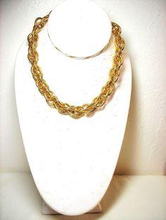 Anne Klein Chain Choker Necklace Gold Tone #AnneKlein #Choker