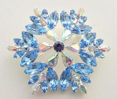 JP 731 Made with blue and ab Swarovski Austrian crystal rhinestones