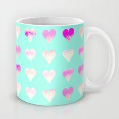 Girly Hearts Mug by Monika Strigel - $15.00