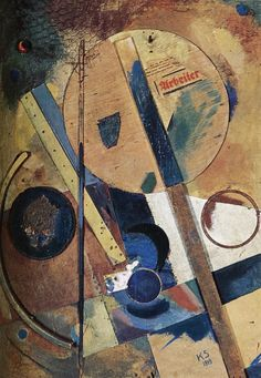 Worker Picture - Kurt Schwitters, 1919