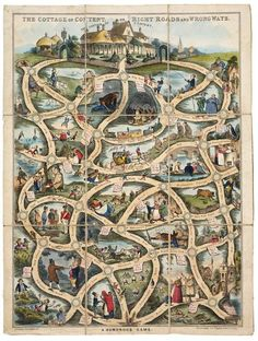 The Cottage of Content or Right Road and Wrong Ways | Spooner, William | V&A Search the Collections