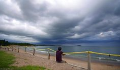 """Looking With Mohammad At ...  """"I can hear your whisper and distant mutter. I can smell your damp on the breeze and in the sky I see the halo of your violence. Storm I know you are coming.""""  ― Robert Fanney #LookingWith #photography #travel #atlantic #ocean #Ingonish #NovaScotia #Canada"""
