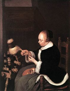 Gerard ter Borch, De spinster (ca. 1652, Museum Boijmans Van Beuningen, Rotterdam)