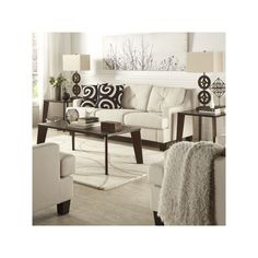 HomeVance 3-piece Allegra Occasional Table Set, Brown Oth