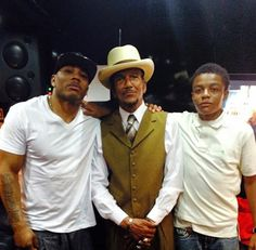 Nelly with his father and son on Father's Day