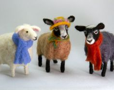 felted wool animals - Google Search