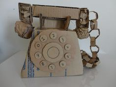 Art Mash - Student Cardboard Sculptures NICE!!!