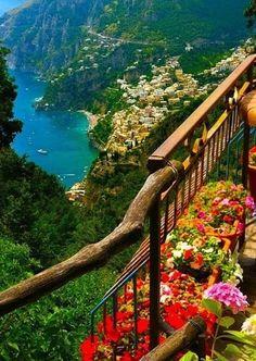 意大利阿马尔菲海岸,海景。