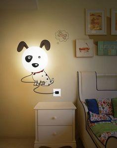 hundelampe wand ideen für designer lampen kinderzimmer