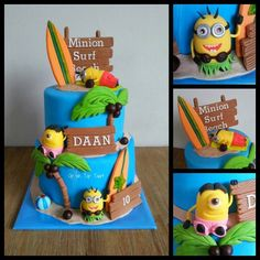 Minions on the Beach Cake