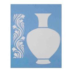 Stencil-para-Pintura-20x15-Vaso-e-Arabesco-LSM-006---Litocart