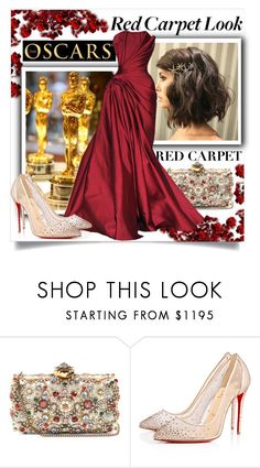 """""""Red Carpet at the Oscars 2017"""" by isror ❤ liked on Polyvore featuring Alexander McQueen, Zuhair Murad and Christian Louboutin"""