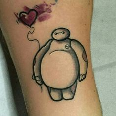 Adorable little Baymax tattoo