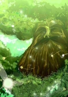 Deku tree by OrcaJ - from The Legend of Zelda: Ocarina of Time.