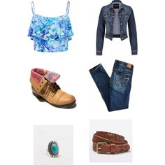 A fashion look from February 2015 featuring Forever New tops, American Eagle Outfitters jeans and American Eagle Outfitters rings. Browse and shop related look…