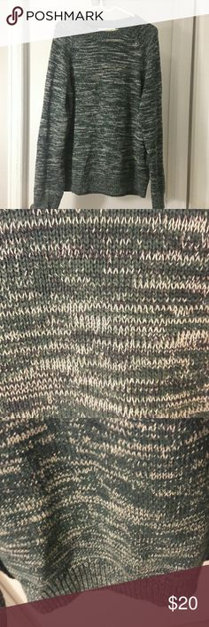 Green Oversized Knit Sweater NWOT Label of the Graded Goods Green, Cream, and Black Marled Size Large could fit and extra large oversized Sweater Comes from a smoke free pet free home L.O.G.G. Sweaters