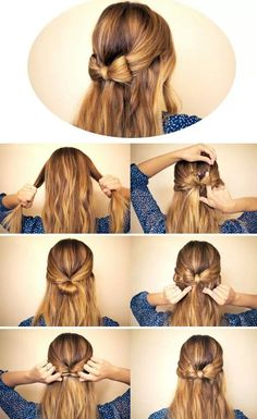 Peinado fácil! #diy #hair #beauty